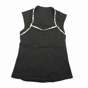 Lululemon Black Vitalize Cap Sleeve Tank Top
